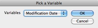 Insert Variable