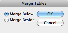 Merge Tables Dialog