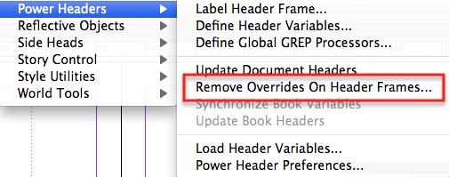 Remove Overrides