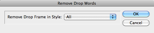 Remove Drop Words