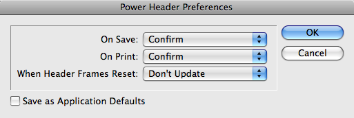 Updating Preferences