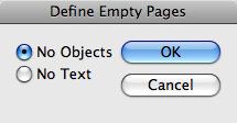 Define Empty Pages