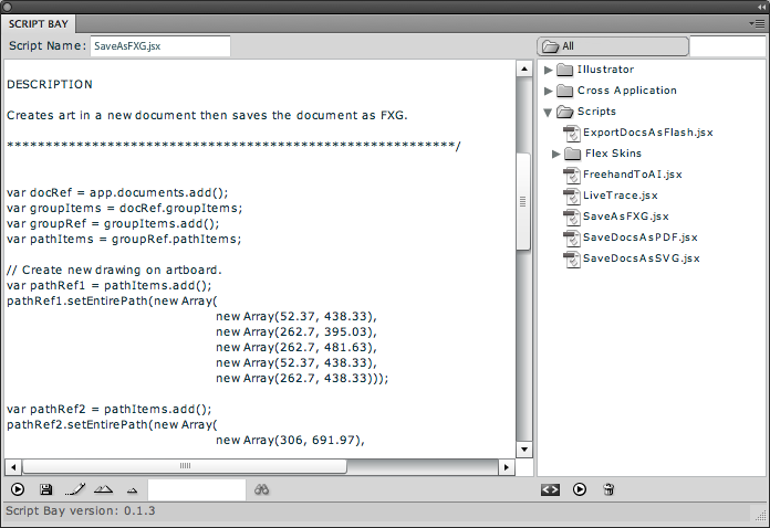 Script Bay: Script Panel Replacement for the Entire Creative